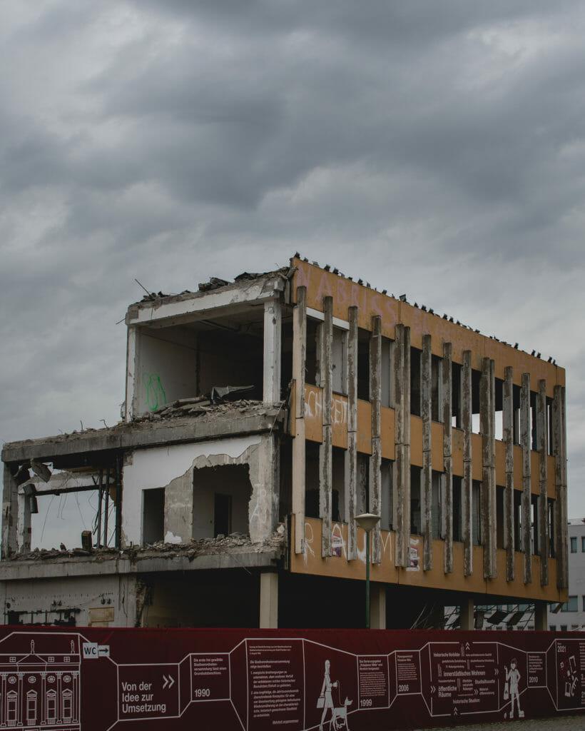 Letzte Reste der alten Fachhochschule in Potsdam