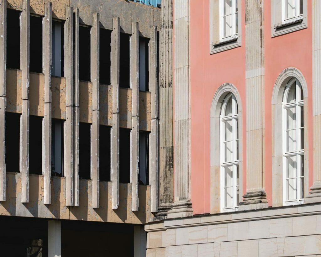 Fachhochschule und Stadtschloss am Alten markt in Potsdam